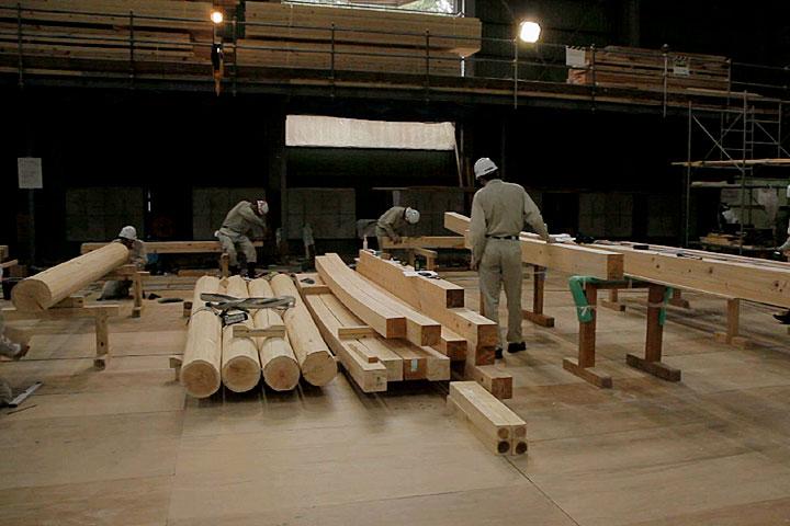復元工事の過程公開