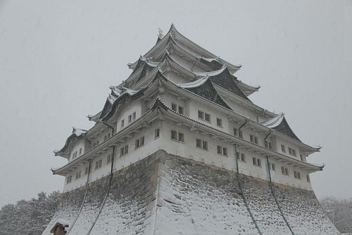 冠雪の名古屋城 2010年1月
