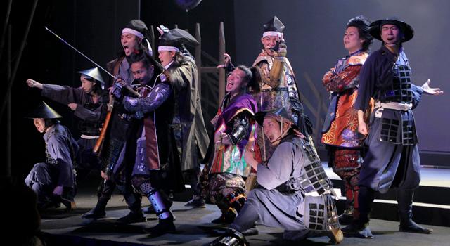 本番さながら気合いの入った表情を見せる名古屋おもてなし武将隊 2012年3月14日公開ゲネプロ