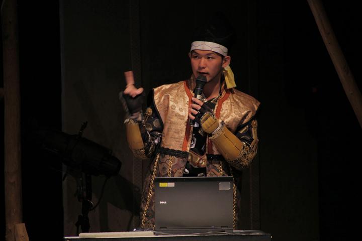 初日座長の前田利家