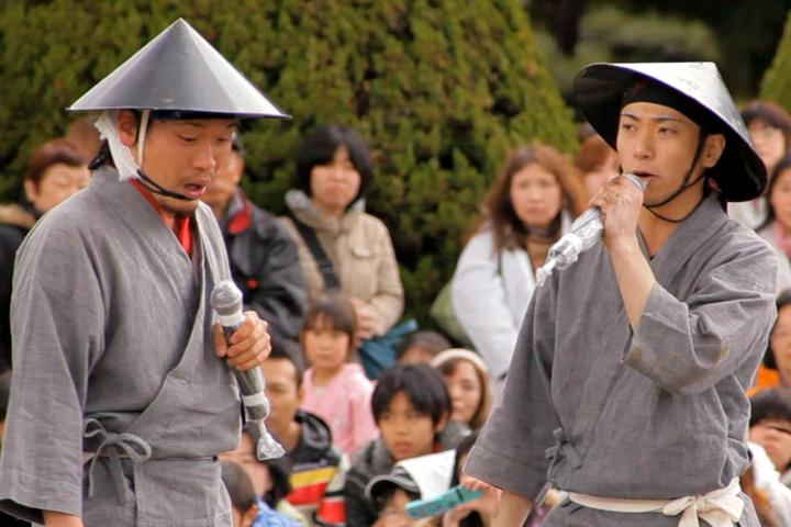 陣笠隊 市蔵(左)と亀吉(右)