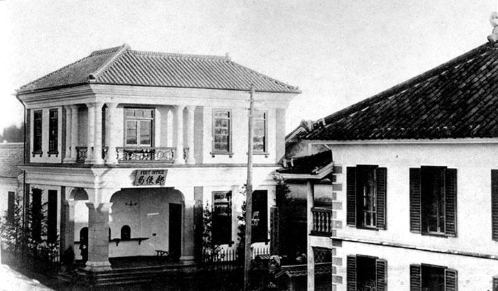 名古屋郵便局と名古屋電信局(右手前)