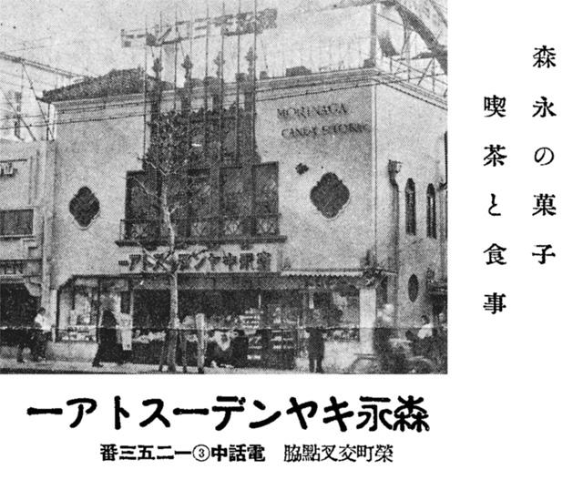 昭和10年頃の森永キャンデーストアの広告