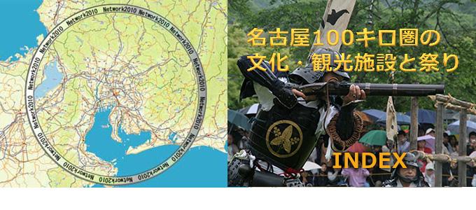 名古屋100キロ圏の文化・観光施設と祭り INDEX